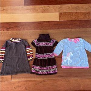 3 sweater dresses bundle